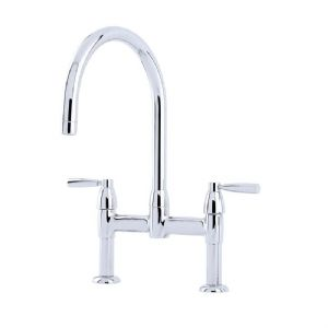 4293 Perrin & Rowe Io Two Hole Sink Mixer Tap With Lever Handles